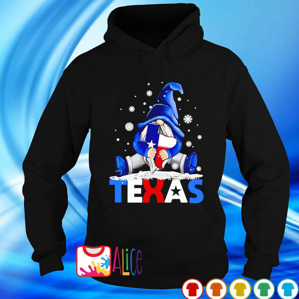 Gnome hug Texas strong Snowstorm and Covid-19 s hoodie