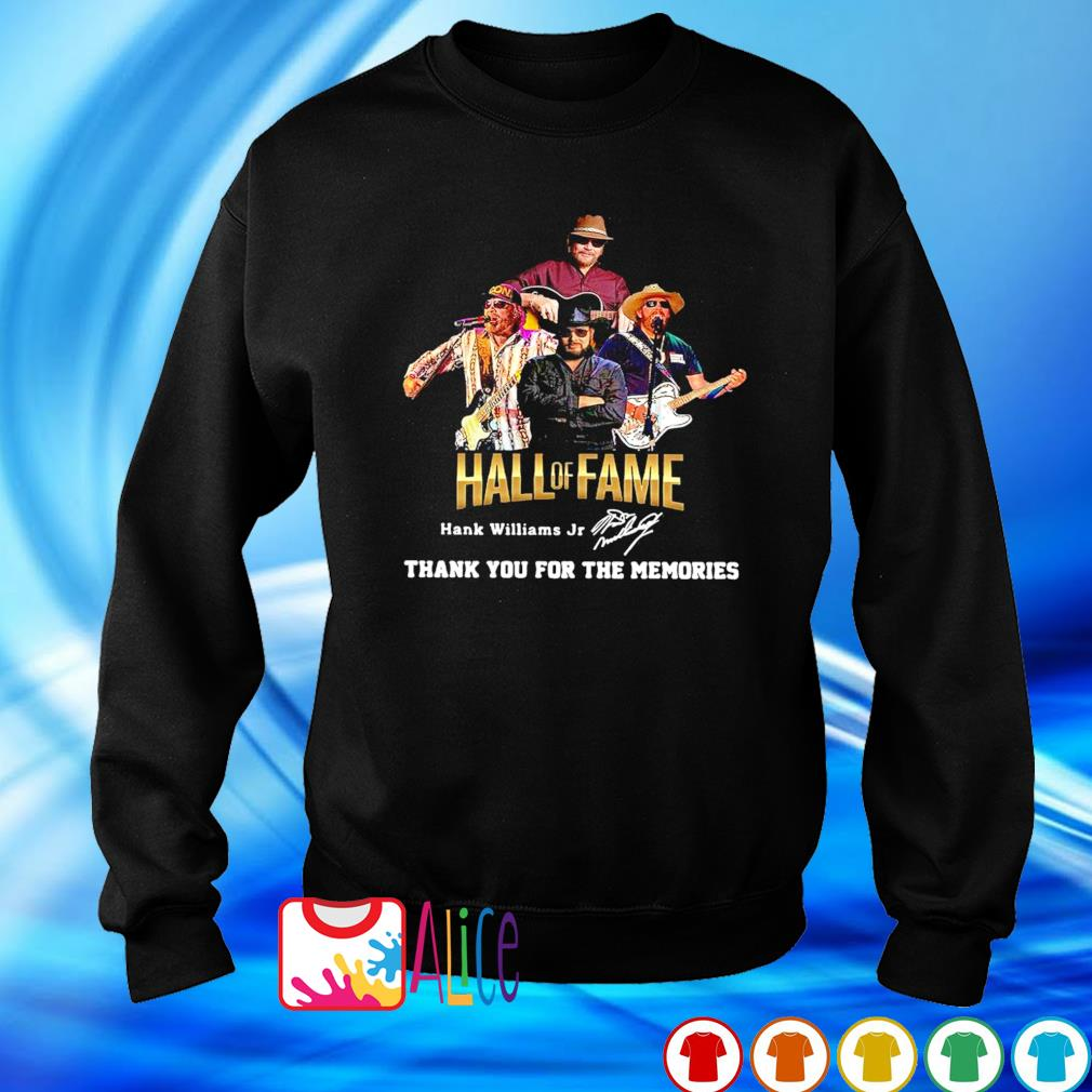 Hank Williams Jr Hall of Fame thank you for the memories s sweater