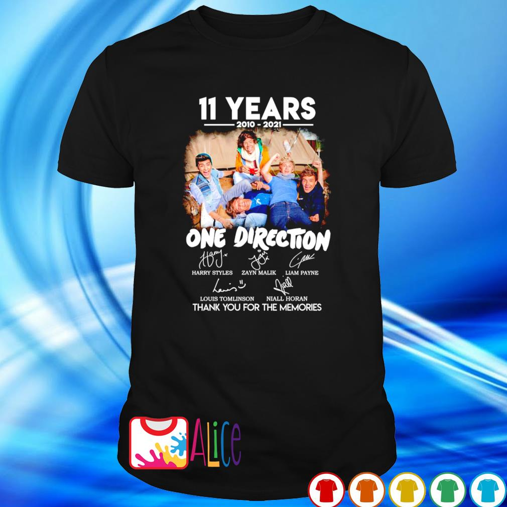 One Direction 11 years 2010 2021 thank you for the memories shirt