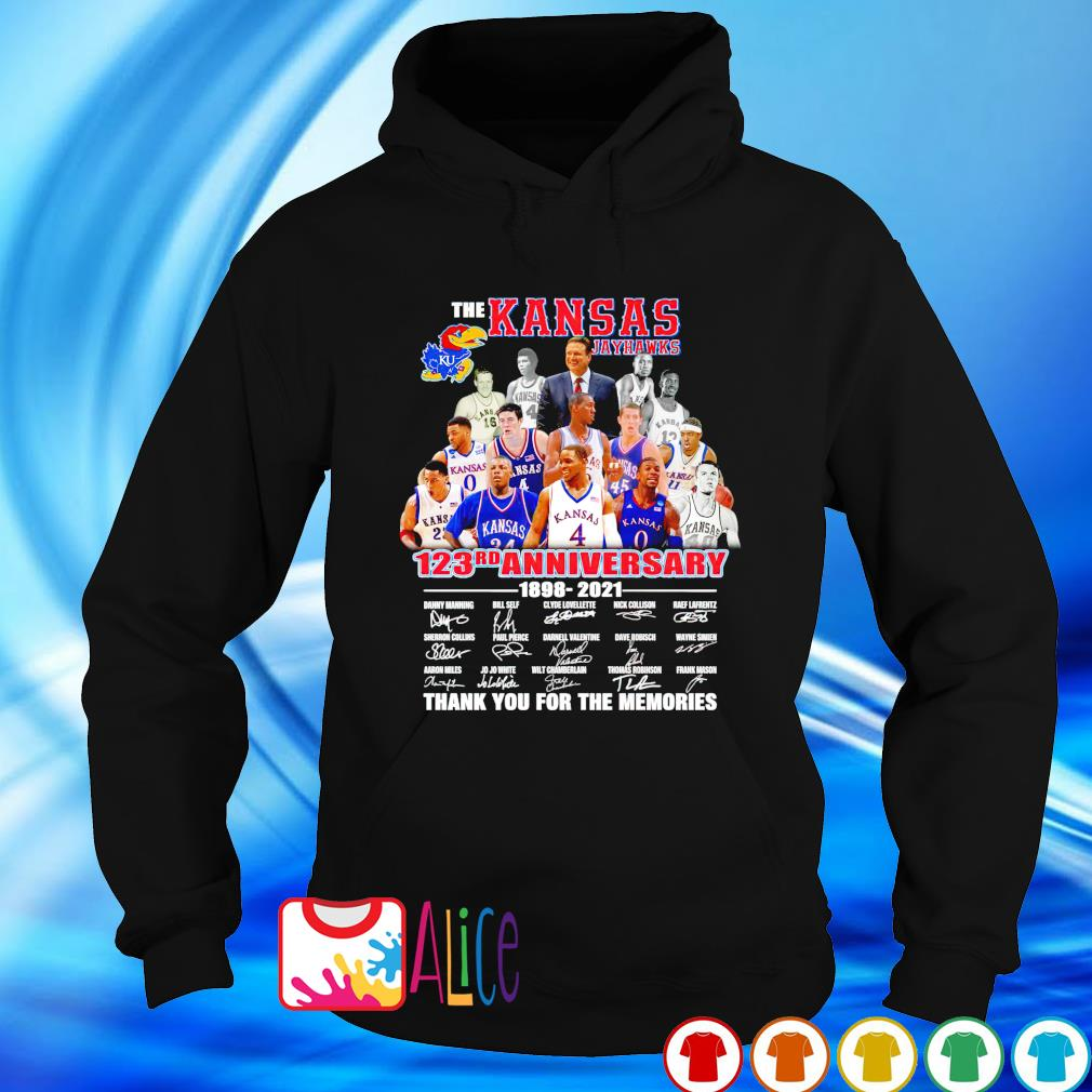 123rd Anniversary The Kansas Jayhawks 1898 2021 thank you for the memories s hoodie