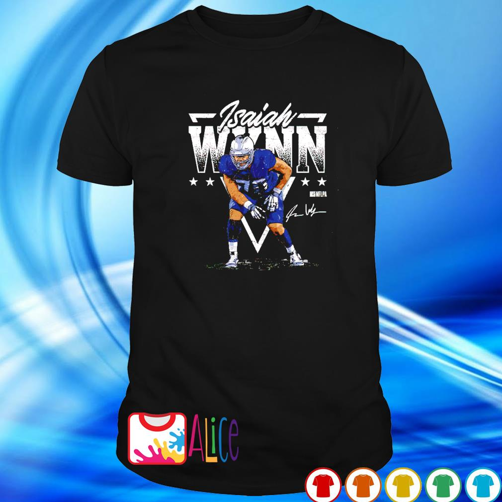 New England Football Isaiah Wynn Triangle shirt
