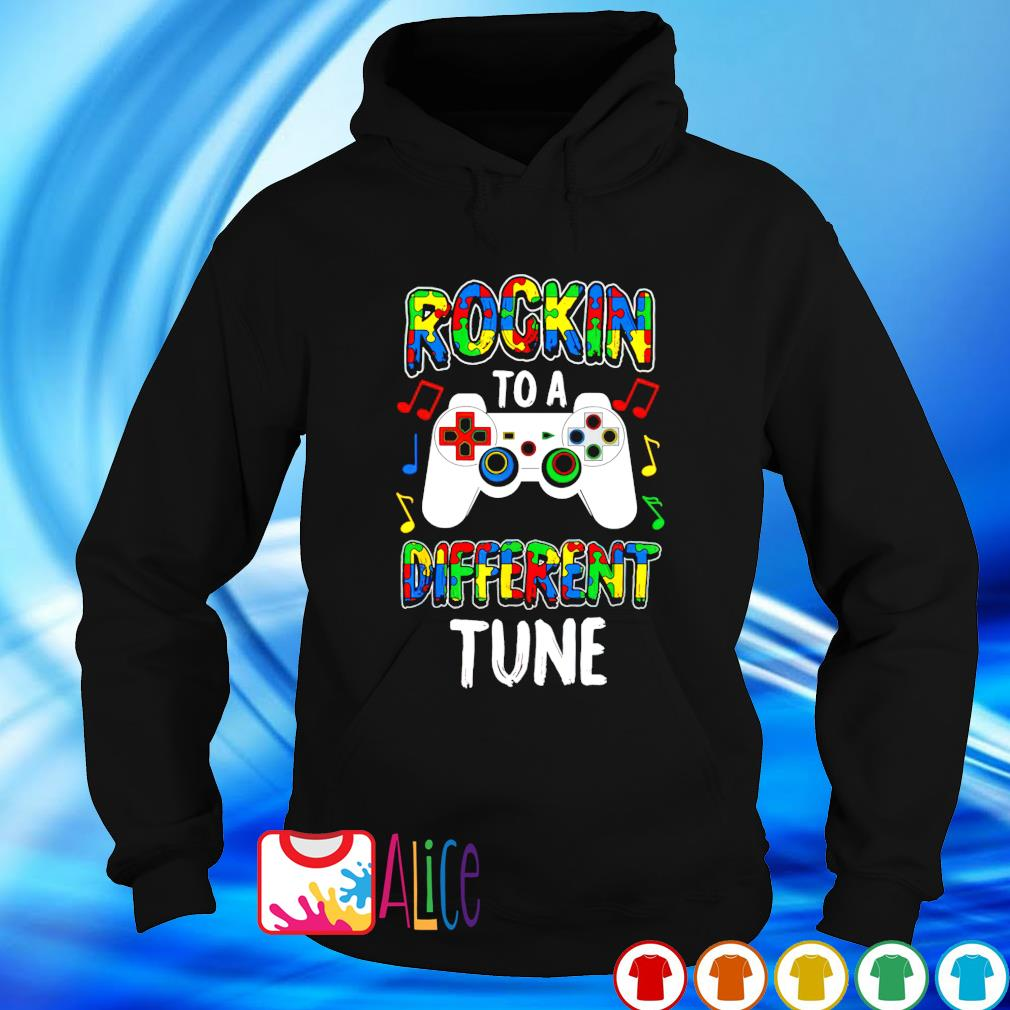 Rocking to a different tune Autism s hoodie