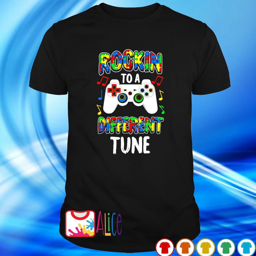 Rocking to a different tune Autism shirt