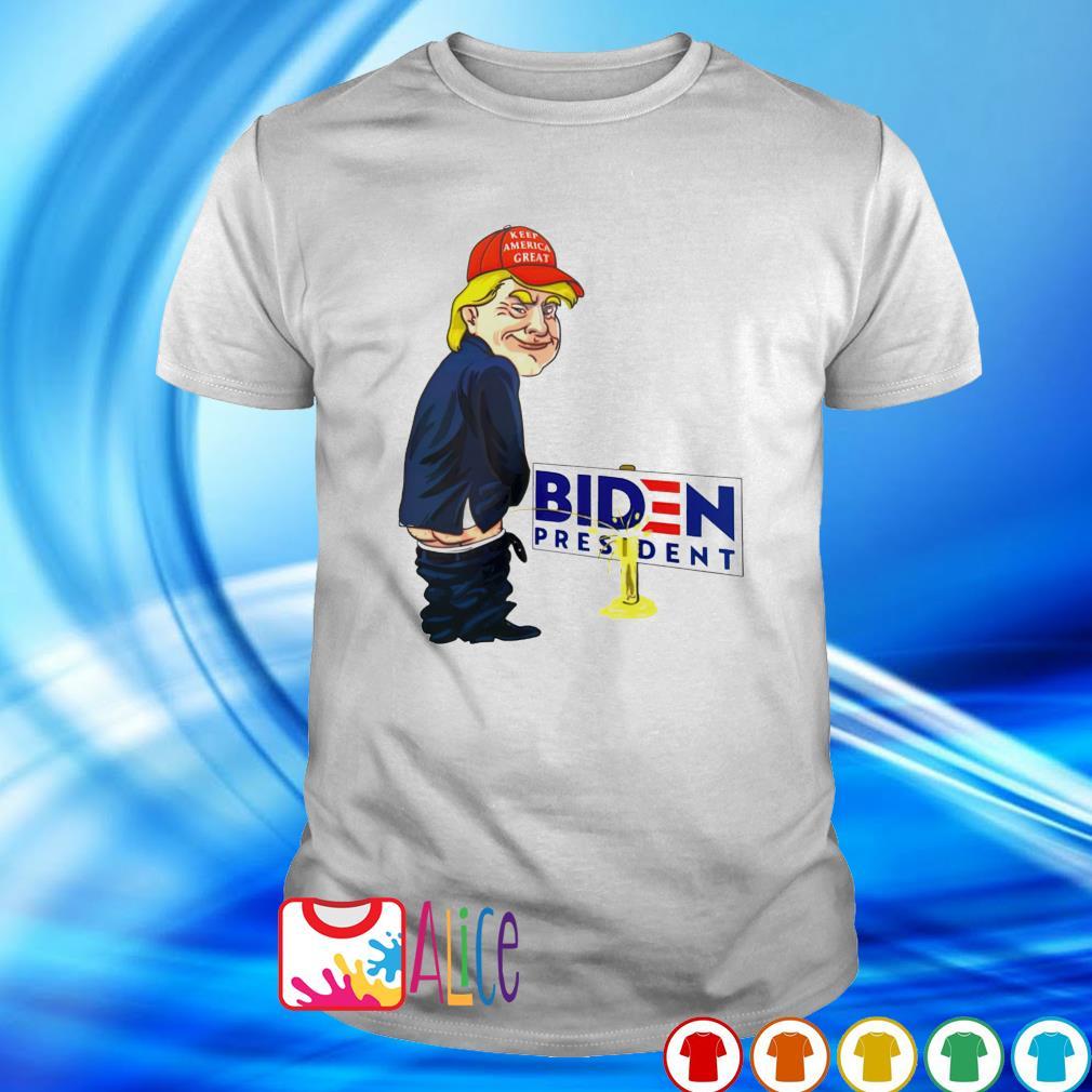 Trump urination Biden president shirt