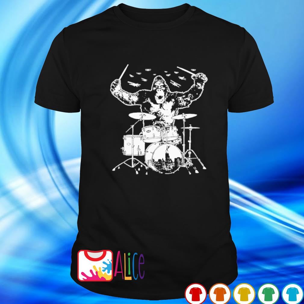 Bigfoot playing drum shirt
