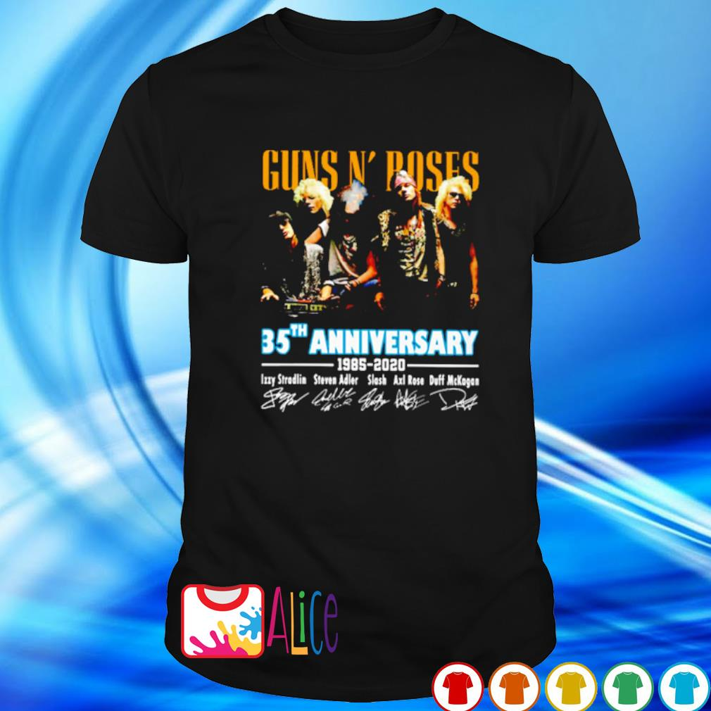 Gun N' Roses 35th Anniversary 1985 2020 signature shirt