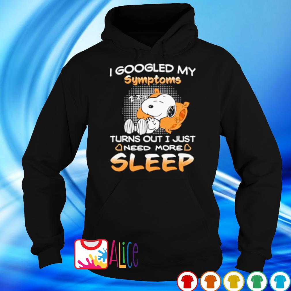 Snoopy I googled my symptoms turns out I just need more sleep s 5