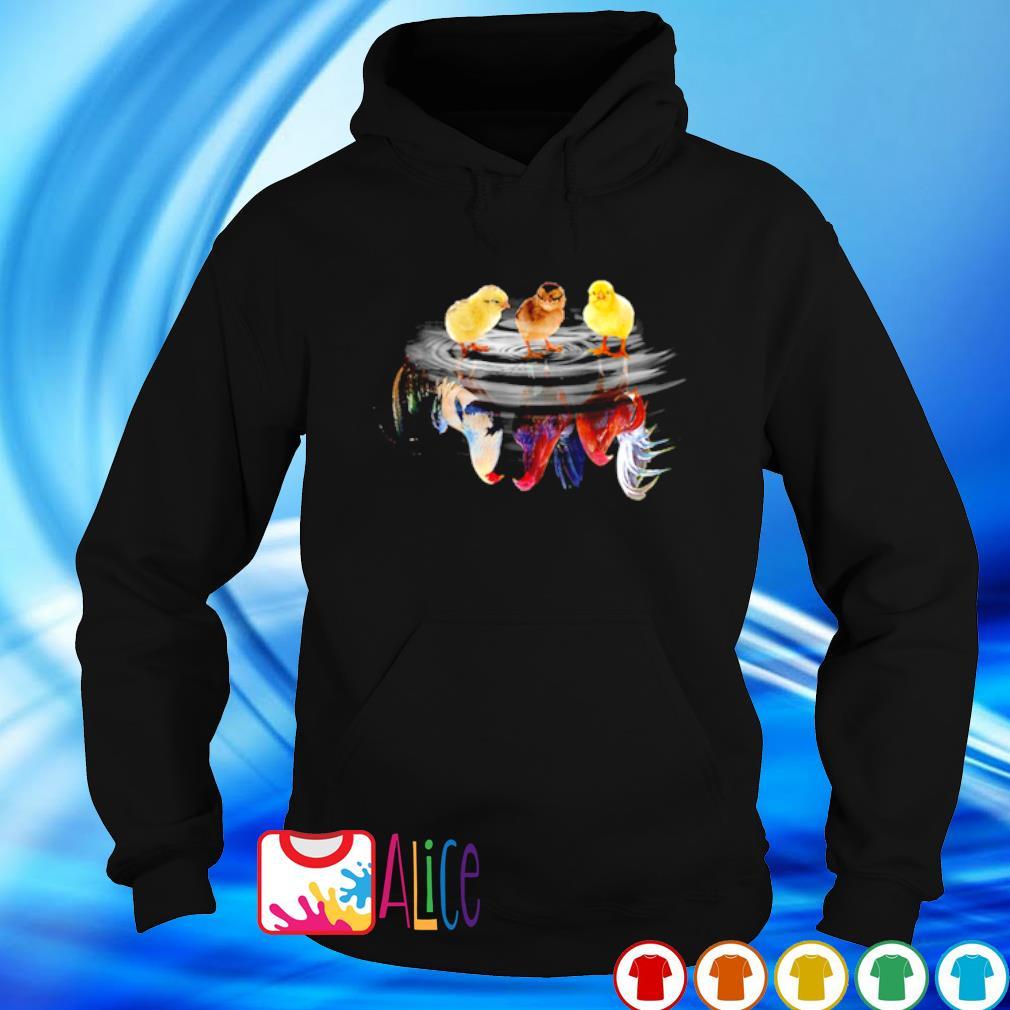 Chicken water mirror reaction s hoodie