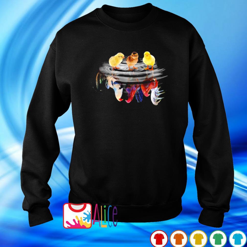 Chicken water mirror reaction s sweater
