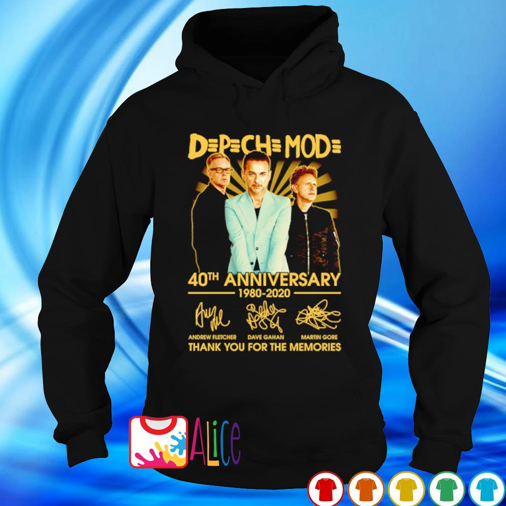 Depeche Mode 40th Anniversary 1980 2020 thank you for he memories s hoodie