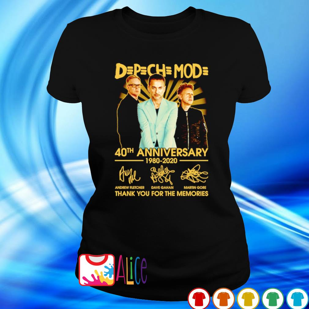 Depeche Mode 40th Anniversary 1980 2020 thank you for he memories s ladies tee