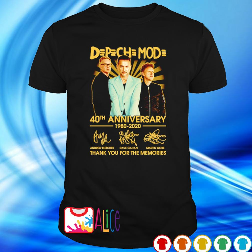 Depeche Mode 40th Anniversary 1980 2020 thank you for he memories shirt