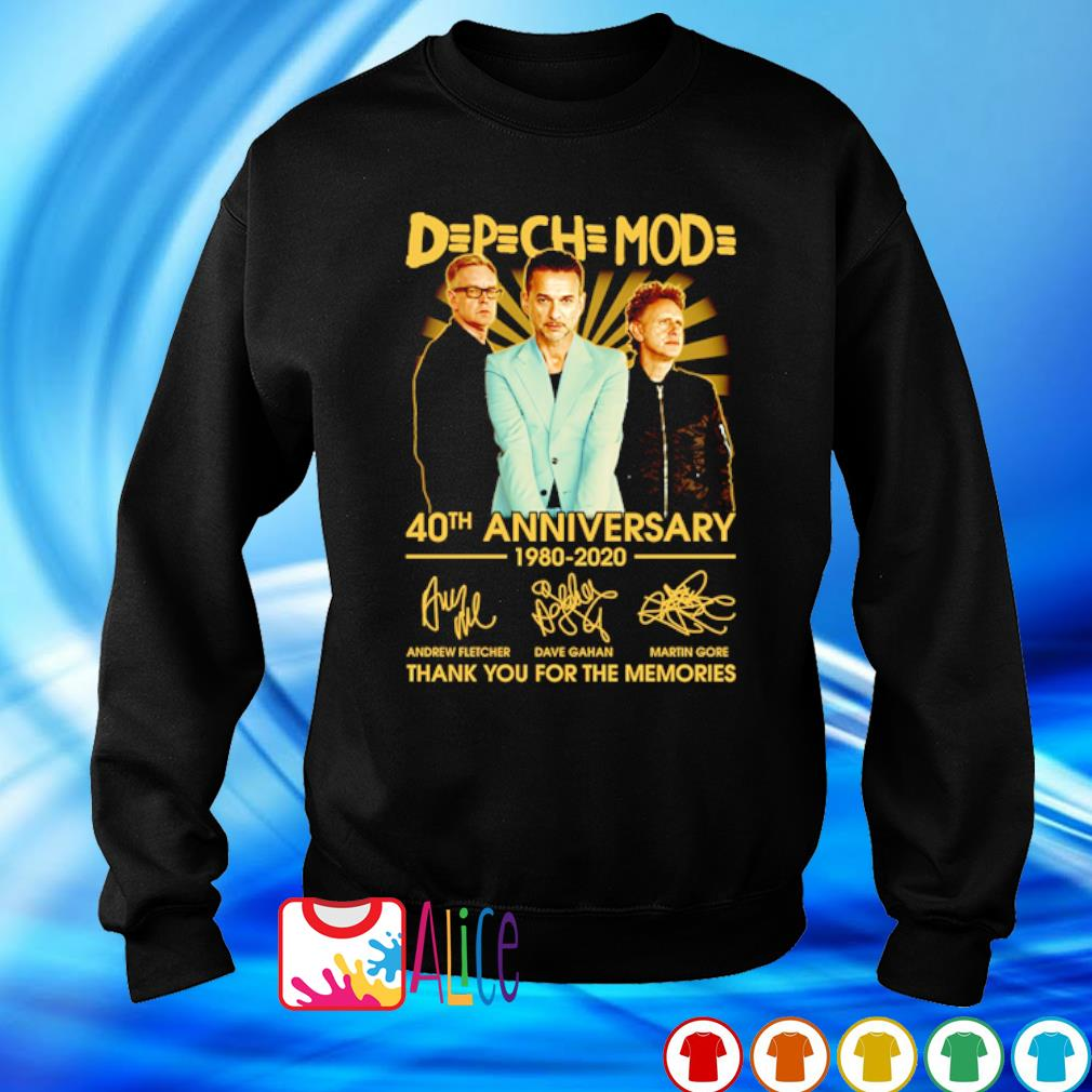 Depeche Mode 40th Anniversary 1980 2020 thank you for he memories s sweater