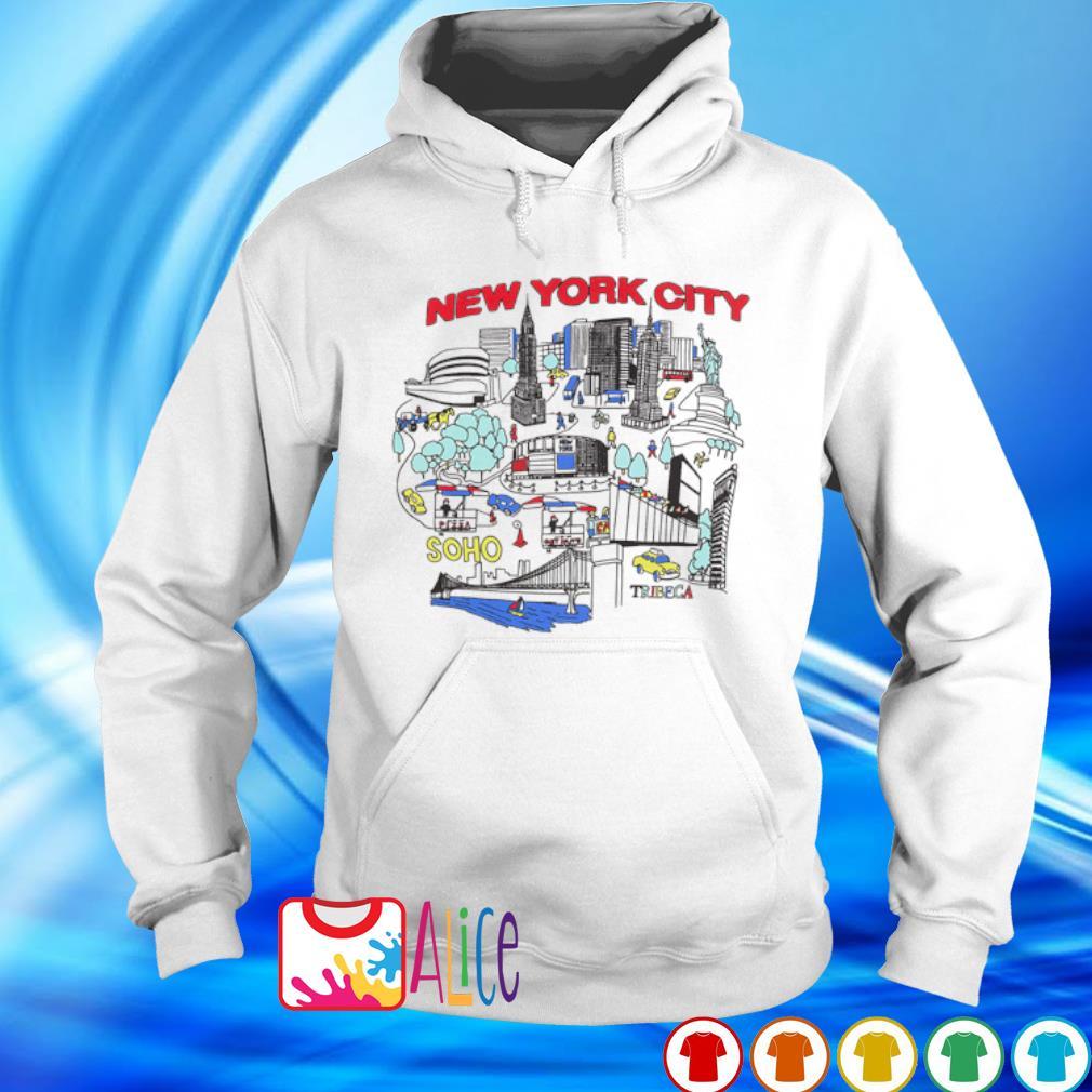 New York city map s hoodie