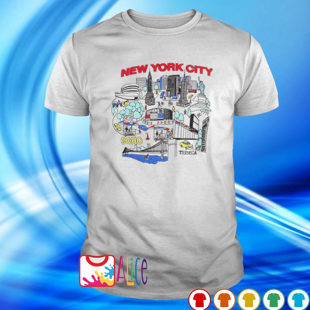 New York city map shirt