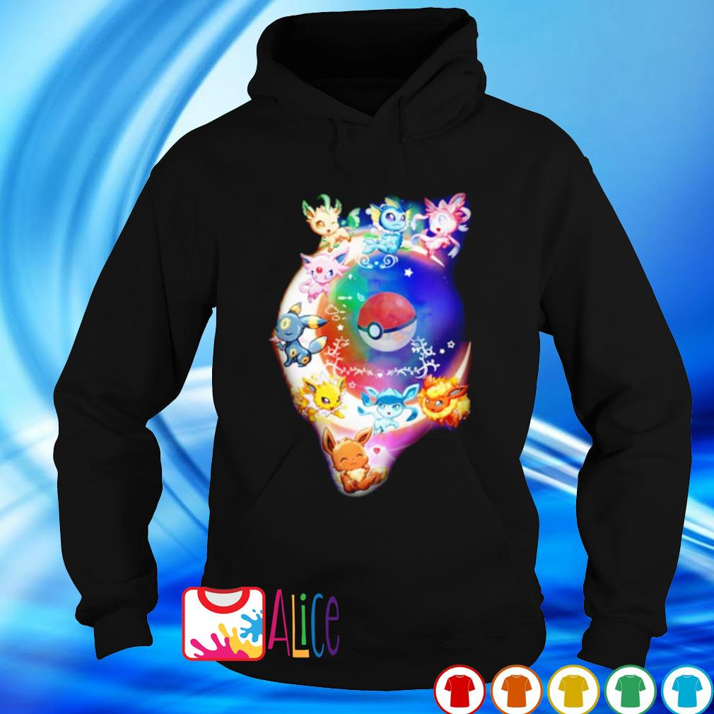 Pokemon with the moon s hoodie