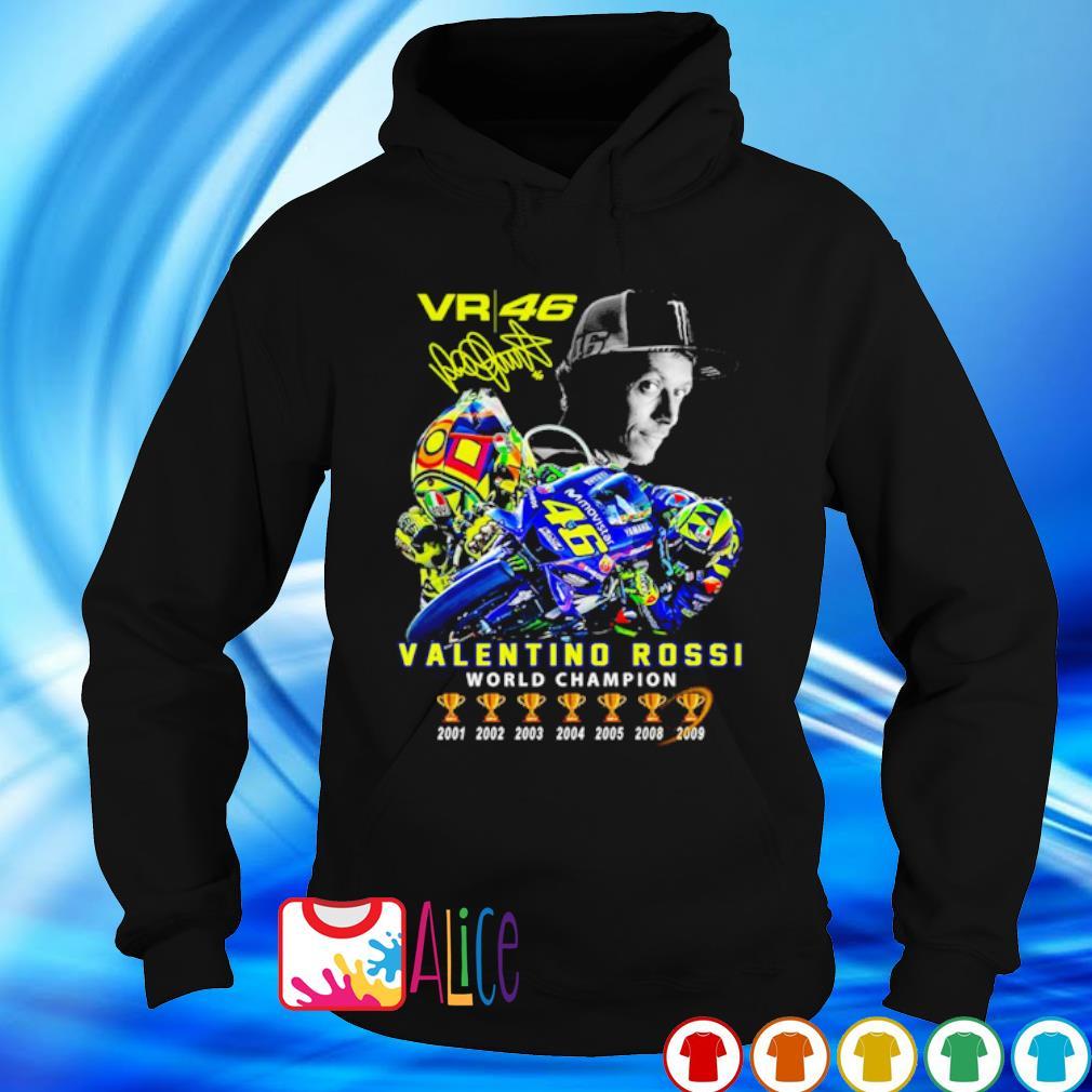 VR46 Valentino Rossi world champion signature s hoodie
