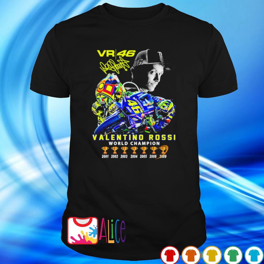 VR46 Valentino Rossi world champion signature shirt