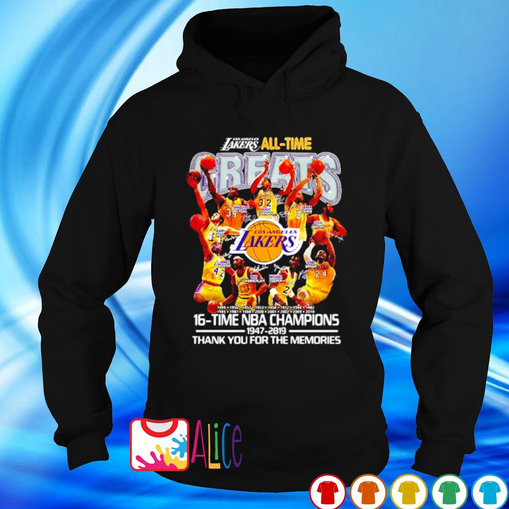 Los Angeles Lakers all time 16 time NBA champions s hoodie