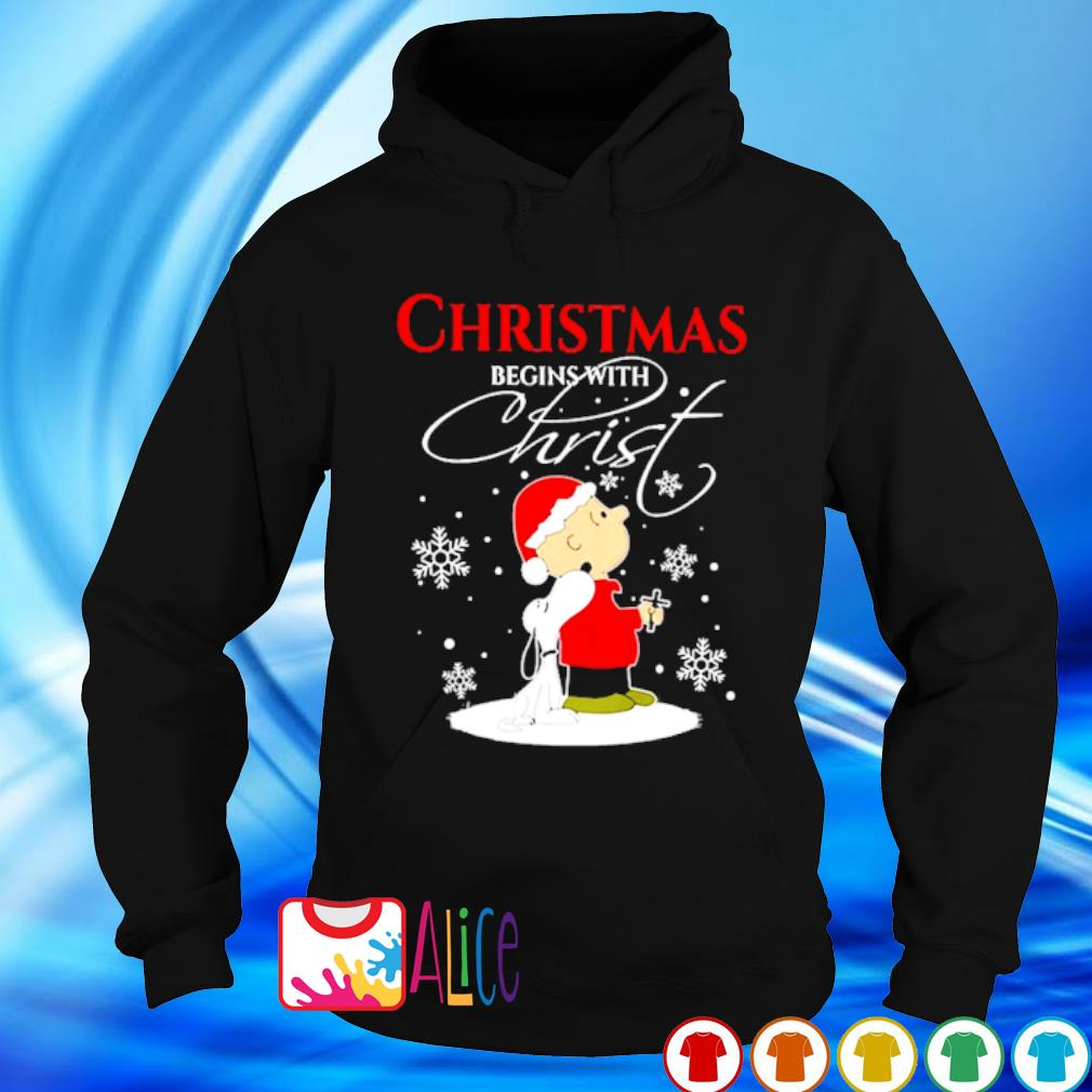 Snoopy and Charlie Brown Christmas begins with Christ s hoodie