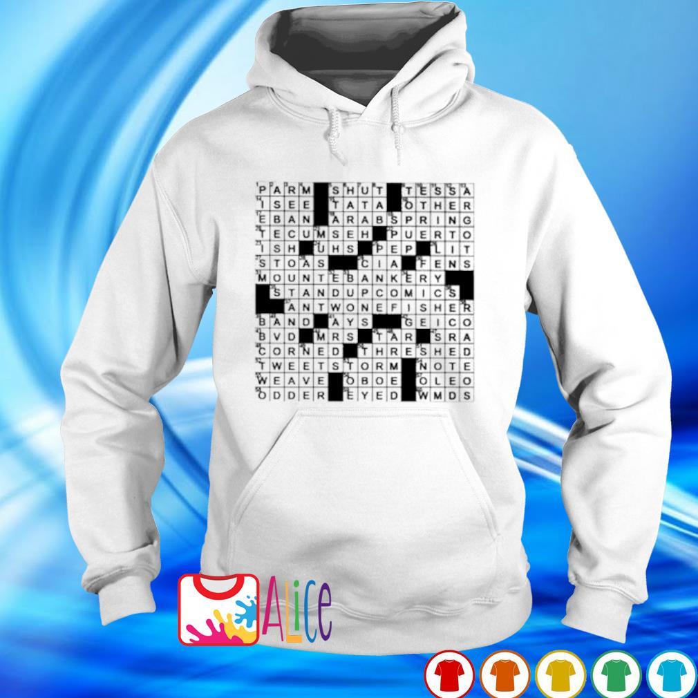Stuffed crossword clue s hoodie