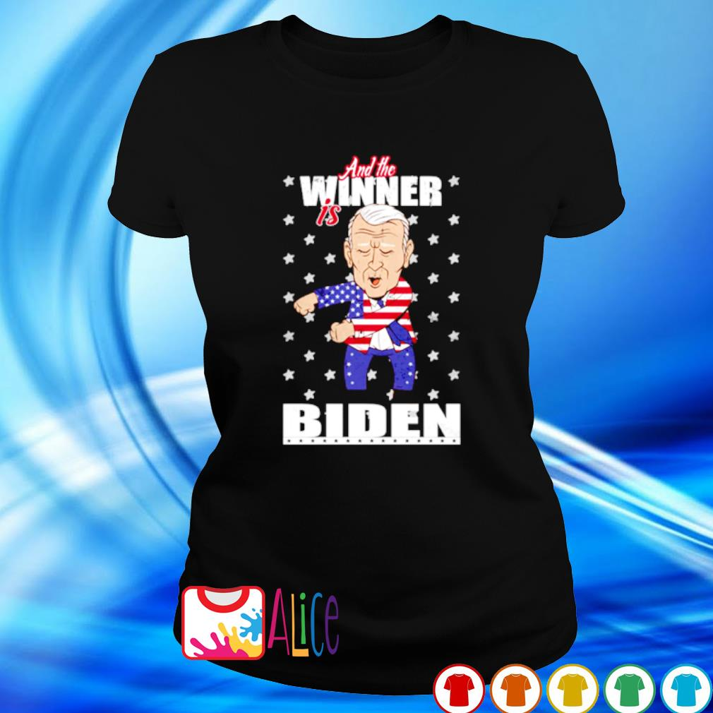 And the winner is Biden election victory s ladies tee