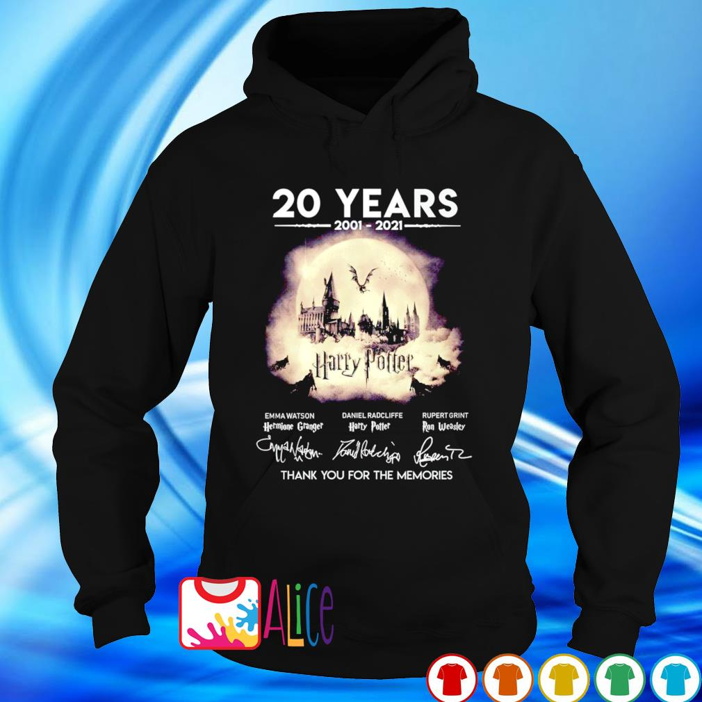 20 years 2001 2021 Harry Potter thank you for the memories s hoodie