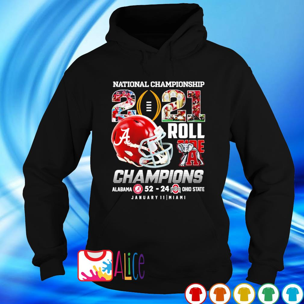 National Championship 2021 Roll Tide champions Alabama vs Ohio s hoodie