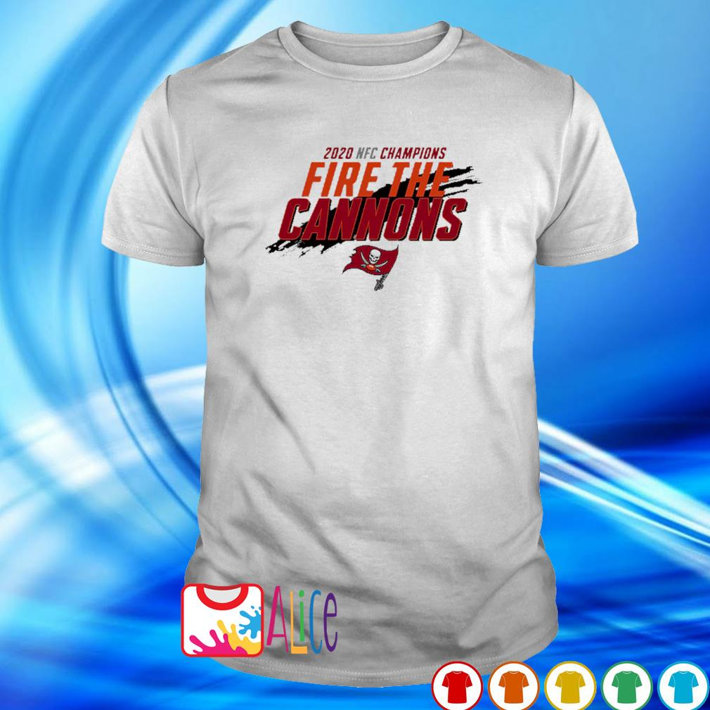 NFC champions 2020 fire the cannons Buccaneers shirt